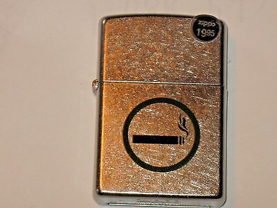 New USA ZIPPO Windproof Flame Click Oil LIGHTER Smoking Permitted Brushed Chrome