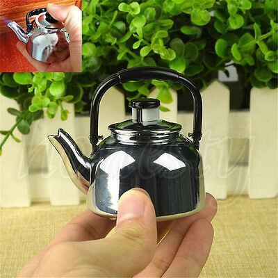 Metal Windproof Refillable Gas Lighter Stable for Gift Collection Teapot-Shape
