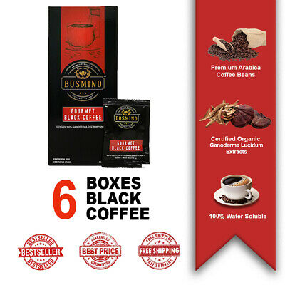 6 Box Black Coffee Organo Gold Gourmet Cafe Nior Ganoderma Lucidum