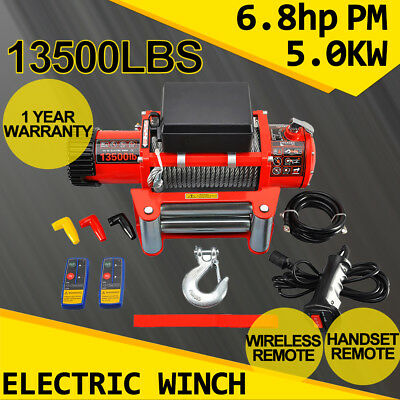 13500lbs Electric Winch 6124KG Recovery 12V Remote Control Kit Jeep Truck Pickup