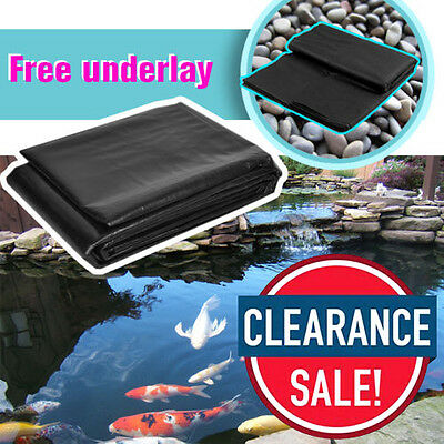 Pond Liner with FREE Underlay 45yr Life Fast FREE Next Day Delivery UK STOCK