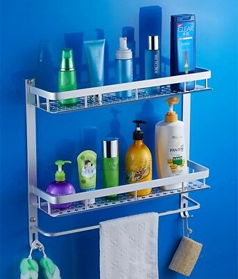 3 Tiers Shower Caddy Bathroom Shelf Rack Storage Wall Mount