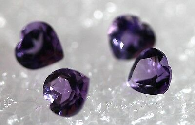 Genuine Natural Amethyst, Lot of 4 stones Jewelry Grade AM-74