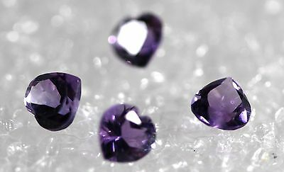 Genuine Natural Amethyst, Lot of 4 stones Jewelry Grade AM-81