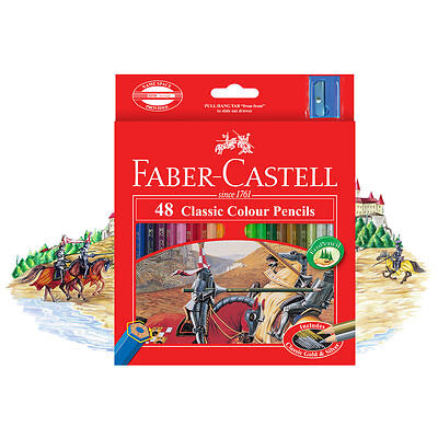 Faber-Castell 48Pc CLASSIC COLOUR ECO PENCILS For 3yr Up, Includes Gold & Silver
