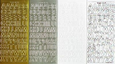 UPPERCASE ALPHABET 18mm (1.8cm) PEEL OFF STICKERS Capital Letters ABC Alphabets