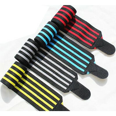 Sports Weight Lifting Wrist Wraps Gym Straps Training Workout HW008