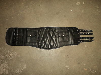 Kidney Belt Classic Vintage Retro Real Leather Length 75