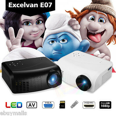 1080p Proyector Mini LCD 2000 lm Projector Home Cinema USB/VGA/HDMI/TF 800:1 ES