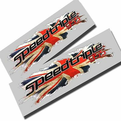 Union flag jack  Triumph speed triple 955  graphics stickers decals x2 small