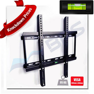 TV Wall Bracket Mount LCD LED Plasma Flat Slim 32 40 42 46 47 50 52 55 60 65 70