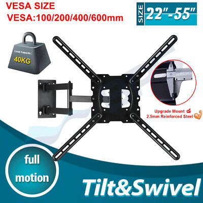 Full Motion Tilt Swivel 10-30 inch LED LCD Plasma TV Wall Mount Bracket Monitor