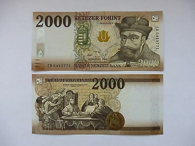 Hungary 2016-2017 2000 Forint banknote - UNC NEW!