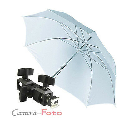 86cm Photo Soft Shoot-through Umbrella Flash Mount Hotshoe Holder Swivel Bracket