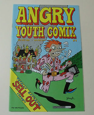 Angry Youth Comix #1 COMIC BOOK Johnny Ryan RARE Prison Pit FANTAGRAPHICS