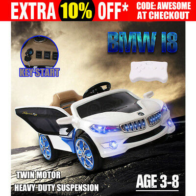 Kids Children Electric Ride-on Car BMW i8 Style Toys 2 Speed Remote Battery12v