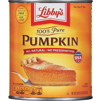 Libby's Pumpkin Pie Filling  - Can - LARGE value 822g - AMERICAN IMPORT