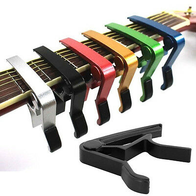 Quick Change Clamp Key Capo For Acoustic Electric Classic Guitar Trigger Release