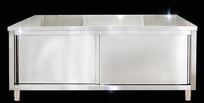 Stainless steel table kitchen cabinet custom work table 100*50*80cm