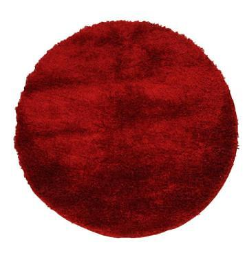 NEW Plush Luxury Red Shag Round Rug