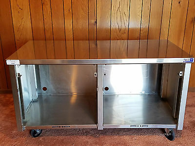 """EMI Industries Enclosed Stainless Steel Table 60"""" Long 30"""" Deep 33.5"""" Tall"""