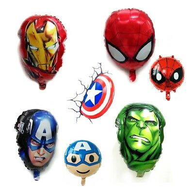 Marvel Hero Avengers Foil Balloons Kids Boys Super Heroes Party Decorations Gift