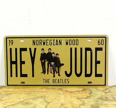 "Hey Jude Beatles Personalized Number License Plates Tin Sign Decor 6x12""  Gift"