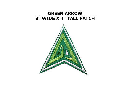 Superhero Green Arrow Embroidery Iron On Patch Badge