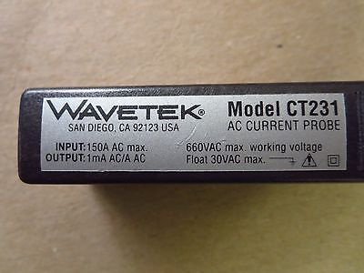 Wavetek CT231 AC Current Probe 150A AC Max