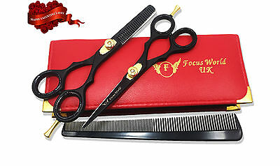 Professional Salon Hairdressing Hair Cutting Thinning Barber Scissors Shears Set
