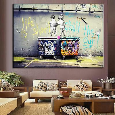 HD Printed Modern Abstract Oil Painting Wall Decor Art Huge - Graffiti No Frame