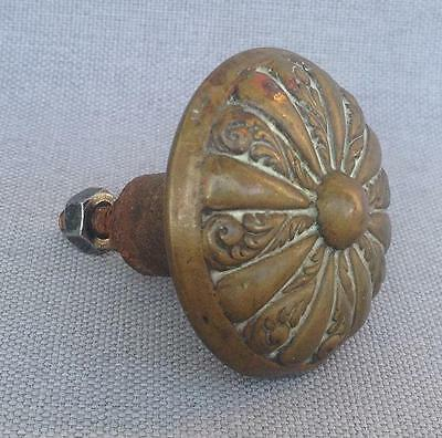 Antique french small front door handle knob made of bronze early 1900's
