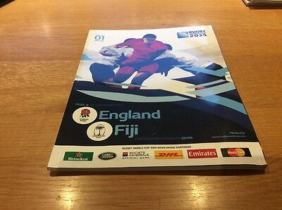 England v Fiji Rugby World Cup 2015 Opening Match programme