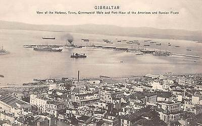 GIBRALTAR, Harbour showing American & Russian Fleets by A. Benzaquen - # 1