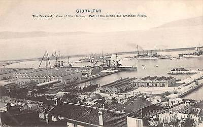 GIBRALTAR, Harbour showing American & British Fleets by A. Benzaquen - # 2