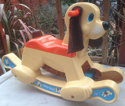 vintage fisherprice rocking horse dog rocker preschool 1980s