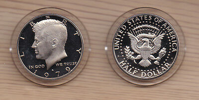 1979-S 50C Type 1 (Proof) Kennedy Half Dollar Uncirculated - In AirTite Capsule
