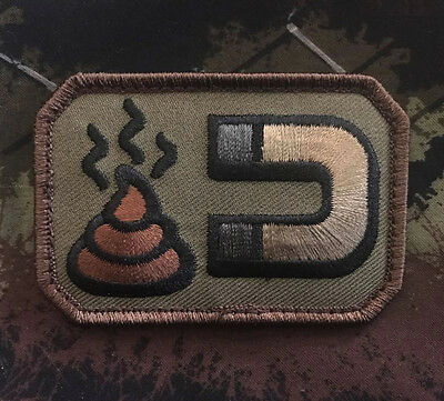 Sh*t Magnet Us Army Usa Combat Forest Badge Hook Patch