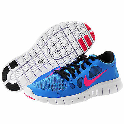 Nike Free 5.0 [GS] 580565 400 Distance Blue Pink Youth Junior's Boy Girl Shoes