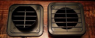 2 inch Black Plastic Square Under Cabinet Air Vent , Home / RV / Anywhere