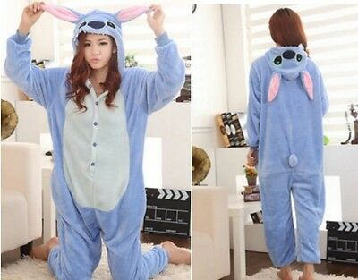 hot unisex costume stitch carnevale halloween Pigiama animali kigurumi cosplay
