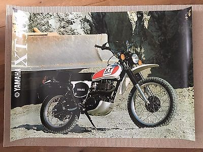 Poster XT500 1978 size A1 (84,1 x 59,4 cm) on 150 grams poster paper new printed