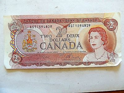 1974 Canadian Two ($2) Dollar Note