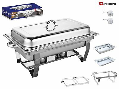 Set of 4 Chafing Dish Dishes with Half Size Food Pans SAME DAY DISPATCH