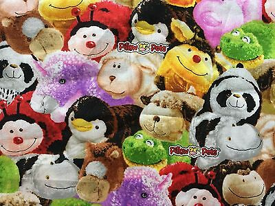 Fq Pillow Pets Beanies Cuddly Soft Toys Animals Teddy Bear Fabric Children