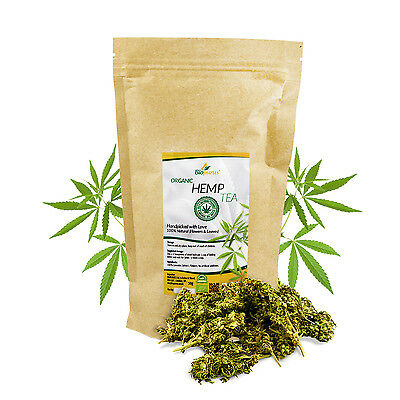 Certified Organic Hemp Flower Buds Tea 50g Biopurus