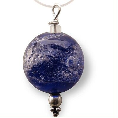 Cremation Ash Infused Memorial Glass Bead Pendant Necklace-Urn