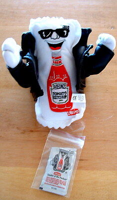 Heinz 57  Leader of the Packets plush advertising item with faux leather jacket