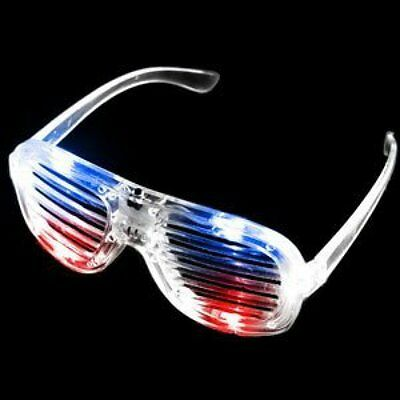 LED Slotted Shades - Red-White-Blue