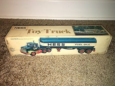 Vintage 1978 Hess Fuel Oils Toy Truck Collectible - Complete in Original Box
